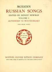 Modern Russian songs by Newman, Ernest