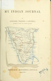 My Indian Journal by Walter Campbell