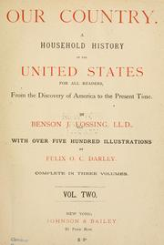 Cover of: Our country by Benson John Lossing