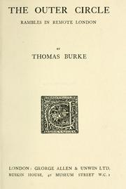 The outer circle by Burke, Thomas