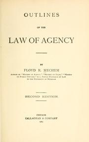Outlines of the law of agency PDF