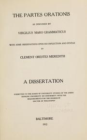 The partes orationis ad discussed by Virgilius Maro Grammaticus ...