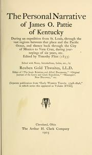 Personal narrative of James O. Pattie of Kentucky by James O. Pattie