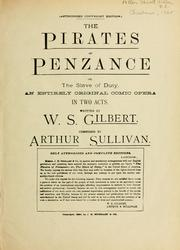 Pirates of Penzance by Sullivan, Arthur Sir