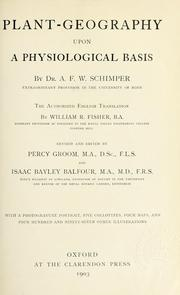 Plant-geography upon a physiological basis by Andreas Franz Wilhelm Schimper