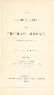 Cover of: The poetical works of Thomas Moore by Moore, Thomas