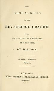 The poetical works of the Rev. George Crabbe by George Crabbe