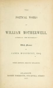 The poetical works of William Motherwell PDF