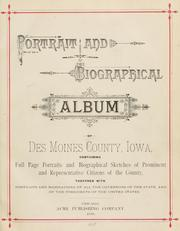 Cover of: Portrait and biographical album of Des Moines County, Iowa by