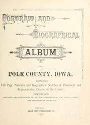 Cover of: Portrait and biographical album of Polk County, Iowa by