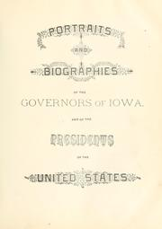 Cover of: Portrait and biographical album of Jefferson and Van Buren counties, Iowa.  Containing full page portraits and biographical sketches of prominent and representative citizens of the county, together with portraits and biographies of all ... governors of the state. by