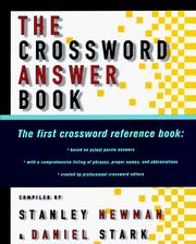The crossword answer book PDF