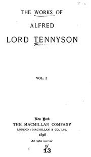 Cover of: Works by Alfred, Lord Tennyson