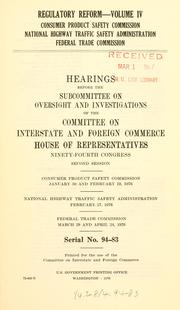 Regulatory reform by United States. Congress. House. Committee on Interstate and Foreign Commerce. Subcommittee on Oversight and Investigations.