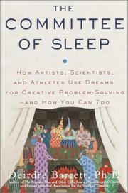 Cover of: The Committee of Sleep by Deirdre Phd Barrett