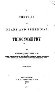 A Treatise on Plane and Spherical Trigonometry by William Chauvenet