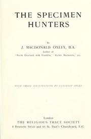 The specimen hunters PDF