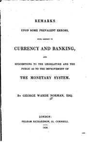 Remarks Upon Some Prevalent Errors, with Respect to Currency and Banking and .. PDF