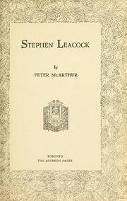 Stephen Leacock by Stephen Leacock