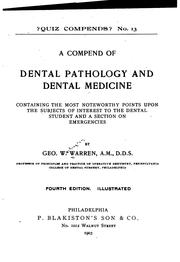 A Compend of Dental Pathology and Dental Medicine: Containing the Most .. PDF