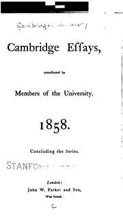 Cambridge Essays PDF