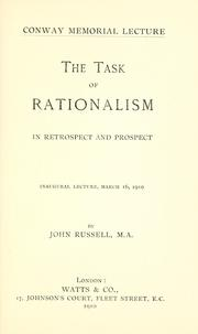 The task of rationalism, in retrospect and prospect PDF