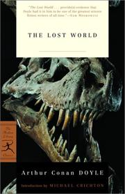The lost world by Sir Arthur Conan Doyle