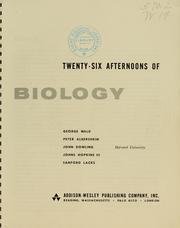Twenty-six afternoons of biology PDF