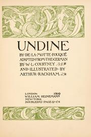 Cover of: Undine by La Motte-Fou Freiherr de