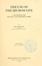 The use of the microscope PDF