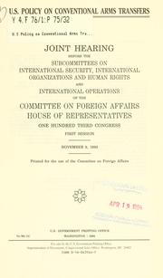 U.S. policy on conventional arms transfers PDF