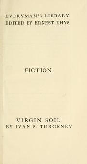 Cover of: Virgin soil by Ivan Sergeevich Turgenev