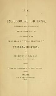 List of infusorial objects found chiefly in the neighborhood of Salem, Mass, etc PDF
