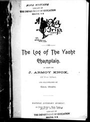 A [ devil] of a trip, or, The log of the yacht Champlain by J. Armoy Knox