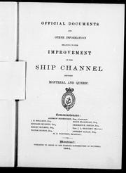 Official documents and other information relating to the improvement of the ship channel between Montreal and Qu PDF