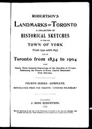 Cover of: Robertson's landmarks of Toronto by