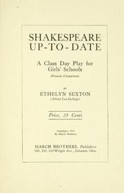 Shakespeare up-to-date .. PDF