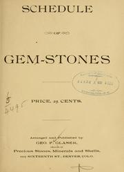 Schedule of gem-stones .. PDF
