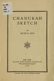 Cover of: Chanukah sketch by Ruth E. Levi