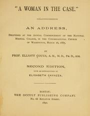 Cover of: A woman in the case by Elliott Coues