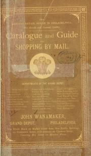 Catalogue and guide for shopping by mail .. PDF