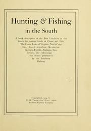 Hunting & fishing in the South PDF