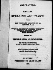 Carpenter's scholars' spelling assistant by Carpenter, Thomas.