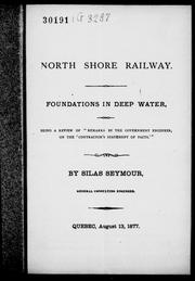 Cover of: North Shore Railway by by Silas Seymour.