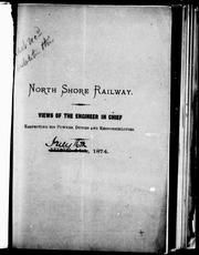 Cover of: North Shore Railway by [Silas Seymour].
