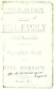 Cover of: Genealogy of the Hill family from 1632 by Moses Hill