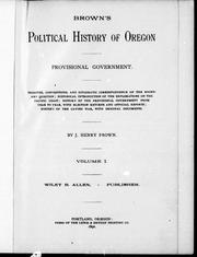 Browns political history of Oregon