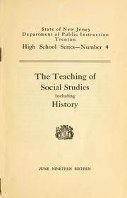 The teaching of social studies including history PDF