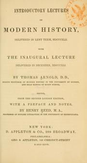 Introductory lectures on modern history by Arnold, Thomas