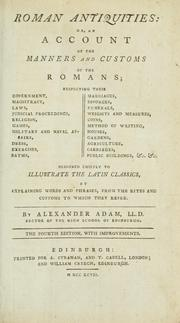 Roman antiquities, or, An account of the manners and customs of the Romans .. PDF